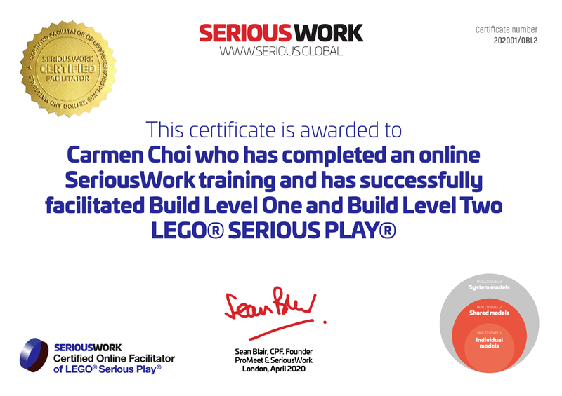 Zertifizierter Online LEGO SERIOUS PLAY Facilitator